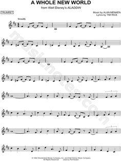 A Whole New World sheet music from Aladdin