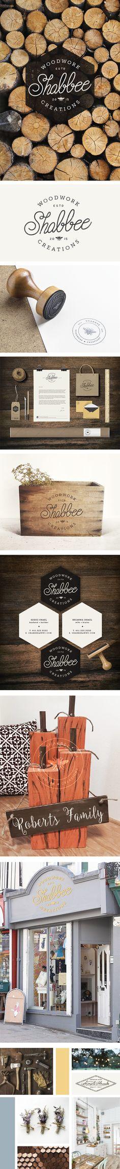 Branding: Shabbee Woodwork Creations | by InBetween Studio    #branding…