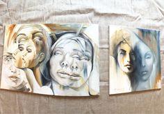 Купить Гармония противоположностей - девушка, картина для интерьера, картина в подарок, картина маслом, Живопись, шедевр