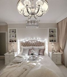 Fabulous lighting in the bedroom.