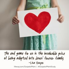 """""""The end game for us is the invaluable price of being adopted into Jesus' forever family."""" - Lisa Harper @gospelofmarkstudy #lifewaywomen @lifeway @lifewaywomen @lisaharper"""