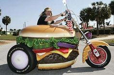 Hamburger Motorcycle - hahaha!