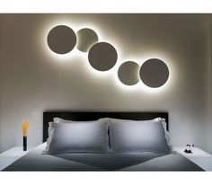 PUCK WALL ART Clusters #Lighting #Lamp #Light #InteriorDesign #Bedroom