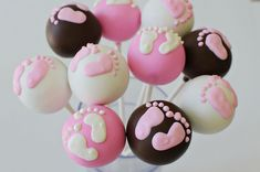 Adorable baby shower cake pops!!!