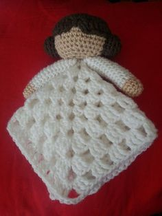 A cute soft lovey security blanket featuring Princess Leia from Star Wars.