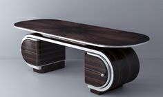 Art Deco by Olga Kryukova, via Behance Office Counter Design, Office Table Design, Dressing Table Design, Tea Table Design, Wood Table Design, Tv Unit Furniture Design, Art Deco Furniture, Art Et Architecture, Wardrobe Design Bedroom