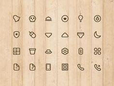 Stroke Icons set. Dribbble: http://drbl.in/dWPU