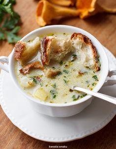Zupa grzybowa Potato Mushroom Recipe, Mushroom Recipes, Mushroom Soup, Soup Recipes, Vegetarian Recipes, Cooking Recipes, Healthy Recipes, Lithuanian Recipes