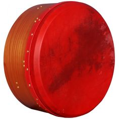 Muzikhausberlin Tunable Deep Rim Bodhran Red Cedar T-Bar Red Skin