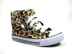 New Toddler Girls Leopard Print High Top Sneaker Boots shoes Lace up Ankle or Calf High Style -                     Price:              View Available Sizes & Colors (Prices May Vary)        Buy It Now      These Cute Leopard Print Sneakers can be worn as Fold Over Ankle Hi Tops or as Calf High Tall Sneakers! Either way your cutie wears them, she'll be a fashionista to the...