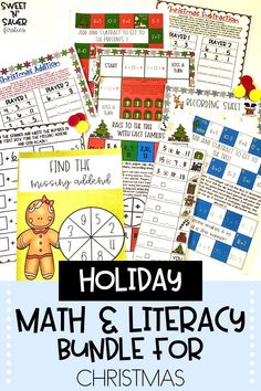 Try this bundle of Christmas literacy and math activities to make your holiday season run much smoother in your kindergarten, 1st grade, 2nd grade, and 3rd grade classroom! This Christmas activity bundle is packed full of hands-on, engaging activities such as creative writing, phonics, math games, and more! These ready-to-use, printable resources are perfect additions to your literacy and math centers, and small groups!