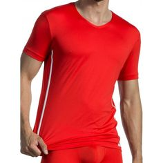 Olaf Benz V-NeckT-Shirt Regular RED1435 Red/White (T3918) Gym Wear, Olaf, Workout Wear, Mens Fitness, Benz, Red And White, Tank Tops, Stylish, Casual