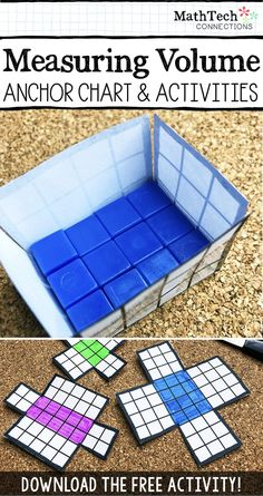 Review Area and Volume vocabulary words with this interactive math activity.   When we measure area, we are measuring the surface space inside the boundary of a two-dimensional (flat) shape. We measure area using square units.  When we measure volume, we
