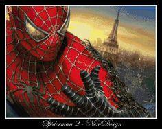 Spiderman 2 cross stitch pattern PDF pattern by NeniDesign