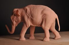 Asian Elephant Figure by Heliot8.deviantart.com on @deviantART