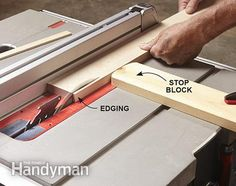 Rip the edging for the tool storage cabinets from solid wood. Get the plans for the Ultimate Tool Storage Cabinets:  http://www.familyhandyman.com/tools/storage/ultimate-tool-storage-cabinets/view-all