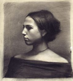 Charcoal portrait by Deflam, via Flickr