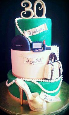 Diva's cake/ MAC,  Gucci and jimmy choo