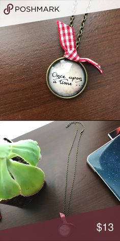 Once Upon a Time Pendant Necklace A very cute and lovely pendant necklace with a little bow! Jewelry Necklaces
