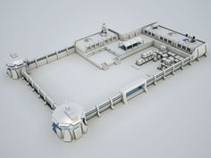 Scifi military base02 3D model lab | CGTrader