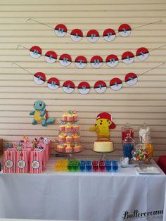Pokémon Party. Dessert table. Candy buffet.