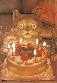 Картины Makoto Muramatsu с кошками. :: Кошачий портал. Фото кошек, картинки с кошками