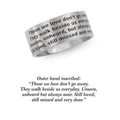 Stainless Steel Those We Love Band Ring