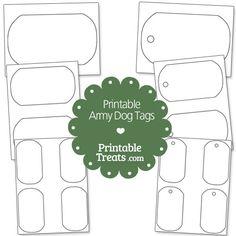 Printable Army Dog Tags from PrintableTreats.com
