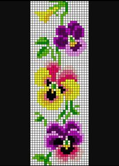Orquídeas Cross Stitch Bookmarks, Beaded Cross Stitch, Cross Stitch Borders, Modern Cross Stitch Patterns, Cross Stitch Flowers, Counted Cross Stitch Patterns, Cross Stitch Designs, Cross Stitch Embroidery, Bead Crochet Patterns