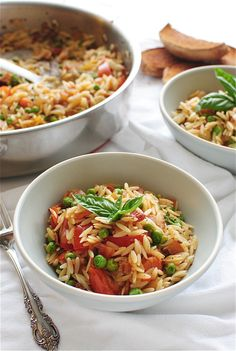 Orzo with Bacon and Summer Vegetables | Bev Cooks