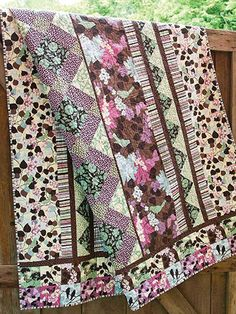 "Twilight in the Park/ beginner/ 67"" x 78""/ QUILTING pattern/ pretty!"