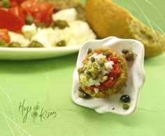Dakos Greek Salad Ring by HugsKissesMINI on Etsy, €33.00