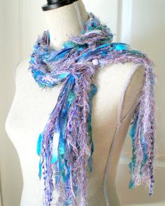 Women Long Fashion Knot Scarf with Beads  Liliac by ohmay on Etsy, $33.00