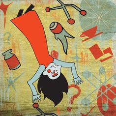 Alice in Wonderland Illustrations by Jack Redmond, via Behance