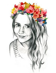 Marta Bellvehí Illustration- My selfportrait!