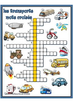 Worksheets 757238124815546679 - les transports – mots croisés Plus Source by pouteaukarine French Language Lessons, French Language Learning, French Lessons, French Teacher, Teaching French, French Worksheets, Core French, French Education, French Classroom