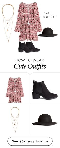 """""""Cute fall outfit"""" by san-na1 on Polyvore featuring H&M"""