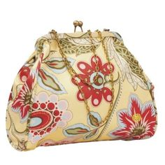 $52 Chic Nora Clutch With Adjustable Chain Straps - Deco Blooms Ultra Feminine! Availability: In stock  $52.00