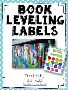 I used these in my classroom to level my books.  Take a look at my blogpost on how I leveled my library for F&P levels.