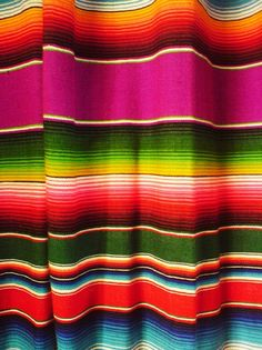 Bright Colored Mexican Blanket