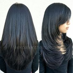 """Foto de Excellent Hair Salon & Spa - """"Haircut and style by Kim"""" - Fremont, CA Haircuts For Long Hair With Layers, Haircuts Straight Hair, Long Layered Haircuts, Trendy Haircut, Medium Hair Cuts, Long Hair Cuts, Medium Hair Styles, Short Hair Styles, Hair Color And Cut"""