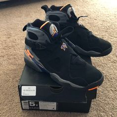 official photos 9c595 7c371 Jordan Shoes   Air Jordan 8s Retro   Color  Black Orange   Size