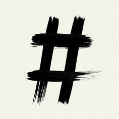 Hashtag symbol grunge brush stroke vector typography | free image by rawpixel.com / Mind Brush Stroke Vector, Free Illustrations, Brush Strokes, Free Images, Grunge, Cool Designs, Typography, Symbols, Letters