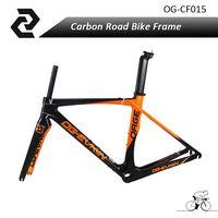 OG-EVKIN Carbon Bike Road Bicycle Frame 3K weave BB386 Certification Glossy Carbon Frame Size 49/52/54/56cm
