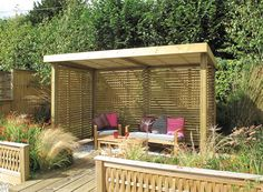 Amazing Shed Plans - Résultat de recherche dimages pour abri de jardin ouvert - Now You Can Build ANY Shed In A Weekend Even If You've Zero Woodworking Experience! Start building amazing sheds the easier way with a collection of shed plans! Small Garden Pergola, Corner Pergola, Modern Pergola, Outdoor Pergola, Diy Pergola, Backyard Patio, Backyard Landscaping, Cedar Pergola, Corner Garden Seating