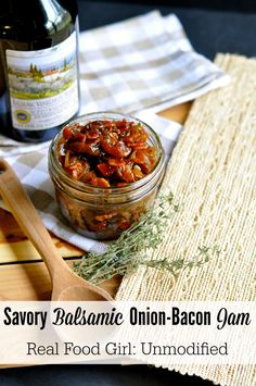 Real Food Girl | Savory Balsamic Onion-Bacon Jam | http://www.realfoodgirlunmodified.com