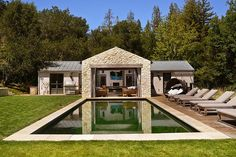 Woodside Estate by FGY Architects Rustic French, French Farmhouse, Farmhouse Design, Modern Farmhouse, Farmhouse Style, Courtyard Design, Stucco Homes, Up House, Stone Houses