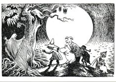 Moomin by Tove Jansson Ink Illustrations, Book Illustration, Moomin Valley, Tove Jansson, Drawing Reference, Traditional Art, Artwork, Fairy Tales, Museum Exhibition