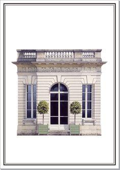 Pavilion at Romainville | Architectural Watercolors