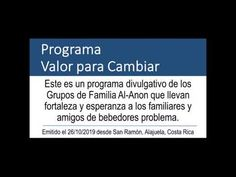 Programa Valor para Cambiar #131 26/10/2019 - YouTube Al Anon, Cards Against Humanity, Youtube, Courage To Change, Youtubers, Youtube Movies